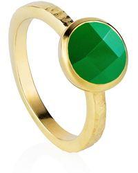 Neola - Estella Sterling Gold Green Onyx - Lyst
