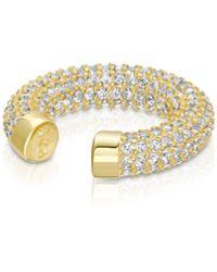 Essentials Jewels Thick Pave Ear Cuff - Metallic