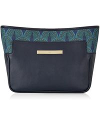 Catherine & Jean | Catherine Clutch In Midnight Blue Peacock | Lyst