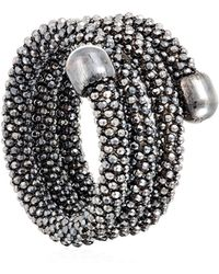 Durrah Jewelry Graphite Spring Ring - Black