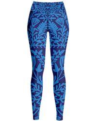 Jessie Zhao New York High Waist Yoga Leggings In Ocean Blue