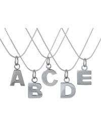 Edge Only - Letter Necklace In Silver - Lyst