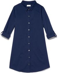 Thacker NYC - Riva Shirtdress In Navy - Lyst