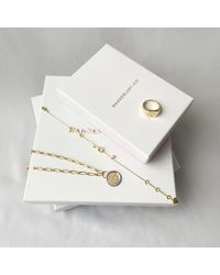 Wanderlust + Co Le Chariot Gold Tarot Necklace - Metallic