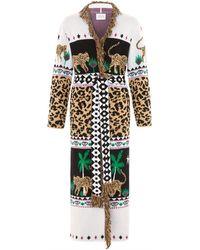Hayley Menzies Leopardess Duster Black & White