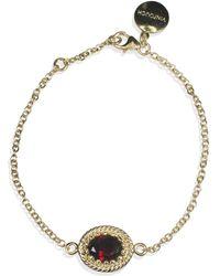Vintouch Italy Luccichio Gold Vermeil Garnet Bracelet - Red