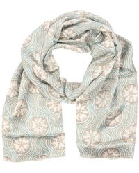 Pink House Mustique Lotty B Silk Charmeuse Long Scarf - Multicolor