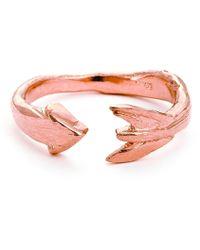 Chupi - Follow Your Dreams Arrow Ring In Rose Gold - Lyst