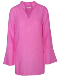 Haris Cotton Long Sleeved Linen Tunic - Multicolour