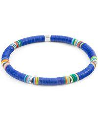 Anchor & Crew Blue Nakuru Silver & Vinyl Disc Bracelet