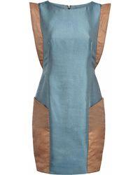 Gyunel - Satin Panelled Dress - Lyst
