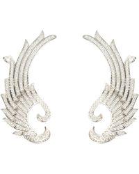 LÁTELITA London Hermes Laurel Wing Ear Climber Ear Silver - Metallic