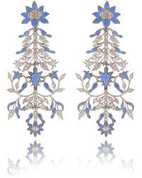 Kastur Jewels 1632 Taj Wall Art Inspired Earrings - Multicolour