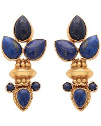 Carousel Jewels - Elegant Multi Lapis Gold Earrings - Lyst