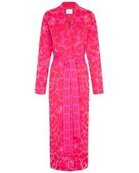 Hayley Menzies Ikat Hot Pink Red Duster