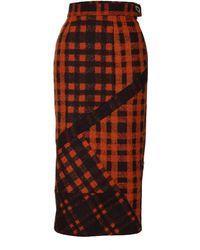 Jiri Kalfar - Orange Pencil Skirt - Lyst