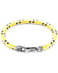 Anchor & Crew - Black Onyx Outrigger Silver & Stone Bracelet - Lyst