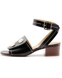 Lou.Earl - Fialta Mid-heels In Jet Black Leather - Lyst