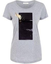 URBAN GILT Brook Grey Gold Splash T-shirt