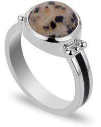Coco & Kinney Dalmatian Scarley Ring In Silver - Metallic
