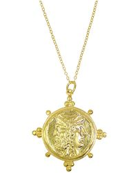 Ottoman Hands - Roman Coin And Bead Cluster Statement Pendant - Lyst