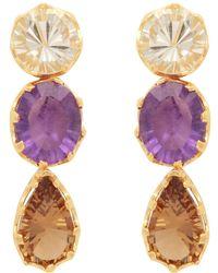 Carousel Jewels - Stones Trio Dangle Earrings - Lyst