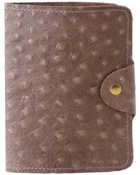 N'damus London - Luxury Italian Leather Cream Ostrich Print Passport Cover - Lyst