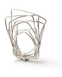 Linnie Mclarty - Wrapt Square Sterling Silver Ring - Lyst