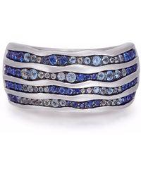 LMJ Maverick Surfer Stone Band Ring - Blue