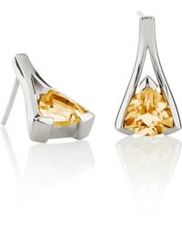 Manja - Valentine Citrine Earrings - Lyst