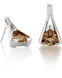 Manja - Valentine Smoky Quartz Earrings - Lyst