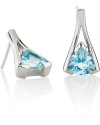 Manja - Valentines Blue Topaz Earrings - Lyst