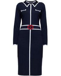 Rumour London   Claire Midnight Blue Jacquard Dress   Lyst