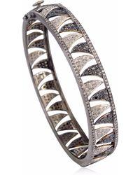 Meghna Jewels Claw Bracelet Black & White Diamonds