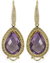 Vintouch Italy - Minerva Amethyst Drop Earrings - Lyst