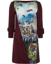 Gyunel - Post-apocalyptic Survivor Printed Silk Dress - Lyst