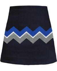 My Pair Of Jeans Chevron Embroidered Miniskirt - Multicolour