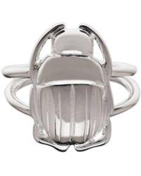 Nina Kastens Jewelry - Mini Scarab Ring Silver - Lyst