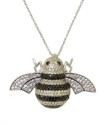 Cosanuova - Sterling Silver Busy Bee Necklace In White - Lyst