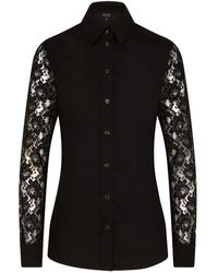 Sophie Cameron Davies Black Cotton Slim Shirt