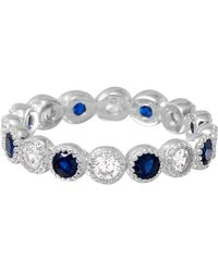 Cosanuova - Sterling Silver Round Sapphire Eternity Band - Lyst