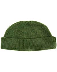 40 Colori - Green Solid Wool Fisherman Beanie - Lyst