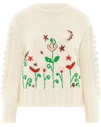 Hayley Menzies Gloria Embroidered Mohair Jumper - Multicolour