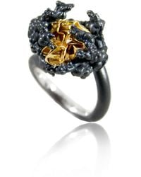 Karolina Bik Jewellery Naphtha Tall Ring - Black