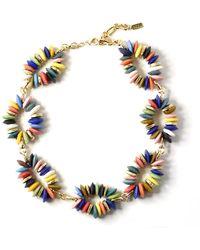Akola Rainbow Glass-link Necklace - Multicolour