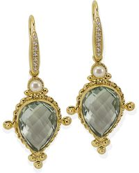Vintouch Italy - Juno Peridot Drop Earrings - Lyst