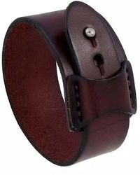 N'damus London Mens Brown Leather Bracelet