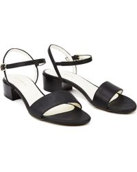 NINE TO FIVE - Strappy Sandal Sul Black - Lyst