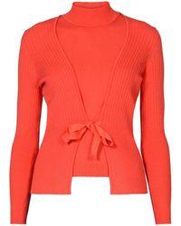 Rumour London Erika And Erin Coral Two-piece Merino Wool Set - Multicolour