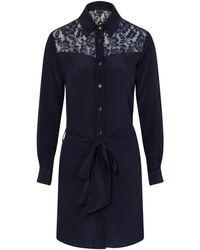Sophie Cameron Davies Midnight Blue Classic Silk Dress